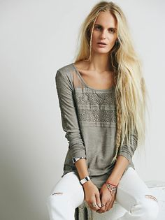 Free People FP New Romantics Pretty Pretty Tee at Free People Clothing Boutique
