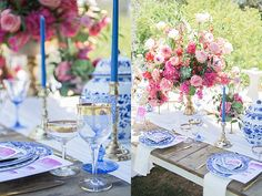 Blue and Pink French-Inspired Wedding on Southern California Bride  Planning/Design: Golden Poppy Events Photography: Molly and Co