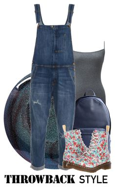 """""""Back to College 2015"""" by aisling-loulou ❤ liked on Polyvore featuring Deborah Lippmann, Uniqlo, PB 0110, Current/Elliott and Dr. Martens"""