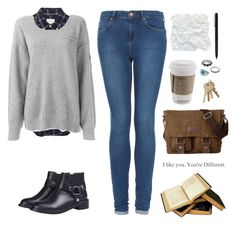 Young, almost broke, and attending college by jocelynj17 on Polyvore featuring polyvore, fashion, style, Dolce&Gabbana, Band of Outsiders, Topshop and IDEA International