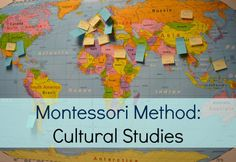 Montessori Method Cultural Studies- how teachers using the Montessori method teach kids about world cultures. Activities, lessons, hands-on opportunities.