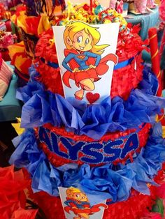Pinatas Couture's Birthday / Super Girl - Photo Gallery at Catch My Party Girl Superhero Party, Superman Party, Superhero Birthday Cake, 21st Birthday, Girl Birthday, Birthday Parties, Birthday Ideas, Girl Photo Gallery, Party Time