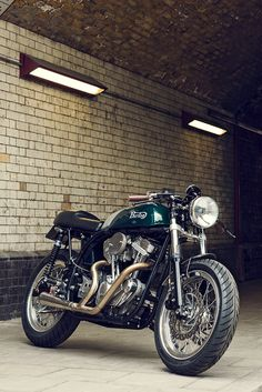 Here's the most unorthodox Norton cafe racer we've seen yet. It's not powered by a Triumph or even a Harley Sportster engine—but one from a Buell X1. And that's what makes it a 'Burton.'
