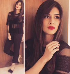 Kriti Sanon outfit is awesome Bollywood Dress, Bollywood Stars, Bollywood Fashion, Indian Celebrities, Bollywood Celebrities, Cool Girl Pictures, Girl Photos, Teen Fashion, Fashion Outfits