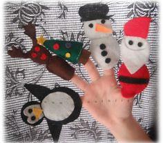 χριστουγεννιατικες κατασκευες δαχτυλοκουκλες 8