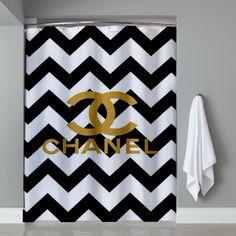 Chevrond Coco Chanel Shower Curtain