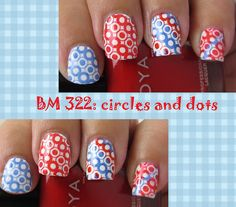 The Manicured Monkey: Stamping Sunday!: Dots and Circles using BM 322