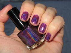 Glitter Gal Dark Purple 3D Holo