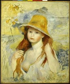 Pierre-Auguste Renoir - Young Girl with a Straw Hat