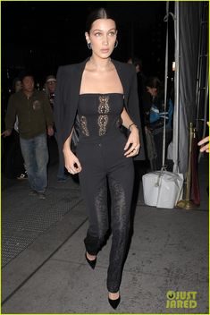 """Bella Hadid goes for an all-black ensemble while attending Global Lyme Alliance's Second Annual """"United For A Lyme-Free World"""" Gala"""