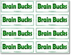 Brain Bucks freebie! Use Brain Bucks to motivate your students to look for creative solutions to problems. I kept an envelope of Brain Bucks handy to reward good thinking any time of the day.