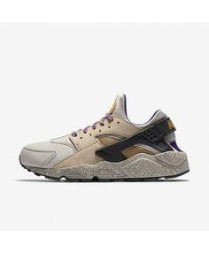 87416689f46b Nike Air Huarache Premium Linen Black Court Purple Golden Beige 704830-200 Huaraches  Shoes