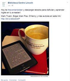 Facebook y bibliotecas: recomendación ebooks Gabriel, Facebook, Tableware, Libraries, Social Networks, Parts Of The Mass, Archangel Gabriel, Dinnerware, Dishes