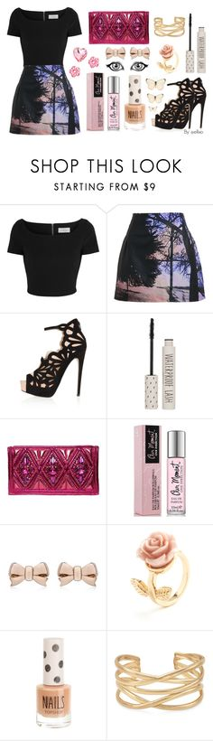 """""""Party Time"""" by ellixo ❤ liked on Polyvore featuring Preen, Mary Katrantzou, Topshop, Balmain, Thomas Sabo, Stella & Dot, OneDirection, Pink, fun and Heels"""