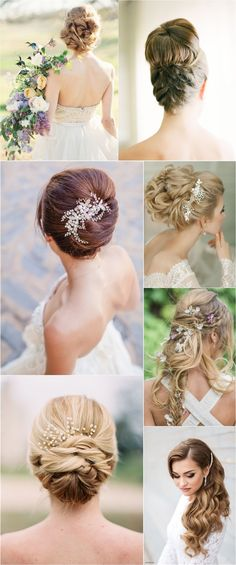 Elegant chic long wedding hairstyle ideas