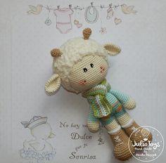 Mesmerizing Crochet an Amigurumi Rabbit Ideas. Lovely Crochet an Amigurumi Rabbit Ideas. Crochet Teddy Bear Pattern, Crochet Sheep, Crochet Patterns Amigurumi, Love Crochet, Amigurumi Doll, Knitted Dolls, Crochet Dolls, Spring Lambs, Crochet Motifs