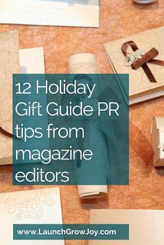 Holiday gift Guide PR tips from editors