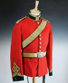 Victorian 5th (Princess Charlotte of Wales's) Dragoon Guards uniform.
