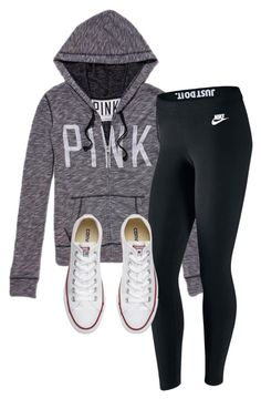 """""""Untitled #287"""" by haileyhoksbergen on Polyvore featuring NIKE and Converse"""