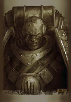 Бывалые воины Warhammer 40k, арт, adeptus astartes, шрамы, длиннопост, warhammer 30k