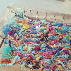 Beavering away at #Bromham Mill today. Loving growing this #tapestry and talking to people about my #flotsam obsession!