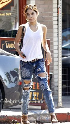SHOP One Teaspoon One Teaspoon The Mustang Trashed Freebirds Seen On Vanessa Hudgens