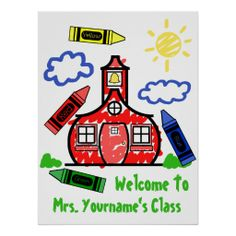 Teacher Classroom Poster - Schoolhouse & Crayons This site is will advise you where to buyDeals          	Teacher Classroom Poster - Schoolhouse & Crayons Here a great deal...