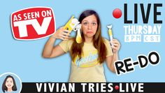 🔴LIVE: Re-Do Testing As Seen on TV Products | Vivian Tries Live – Clever Egg Cracker and Clever Scrambler | Secret Life Of Vivian
