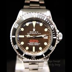 Rolex Submariner 1665 Tropical Double Red Sea Dweller MARK II