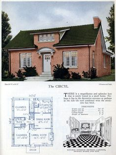Mod The Sims - Vintage Home Design ~ The Circyl: in the Series American Home Design, Vintage House Plans, Vintage Homes, Old House Design, Cottages And Bungalows, Home Design Floor Plans, 1920s House, Built Environment, Environment Design