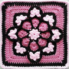 african flower crochet pattern | Pink African Flower adaption | Crochet Patterns                                                                                                                                                     More