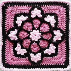 african flower crochet pattern   Pink African Flower adaption   Crochet Patterns