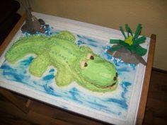 Krokodil Kuchen alle Beschreibungen und noch mehr Fotos findet ihr hier: www.facebook.com/BaumbergerEntdecker