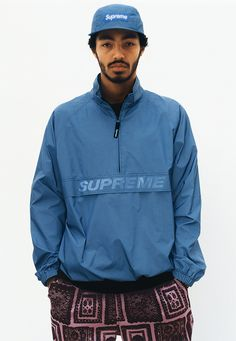 The Supreme Spring 2017 Collection Has an Obama Sweatsuit, Fresh Outerwear, and a Whole Lot More Photos Summer Lookbook, Pullover, Mode Vintage, Windbreaker Jacket, Air Jordan, Sneakers Fashion, Reebok, Men's Fashion, Sportswear