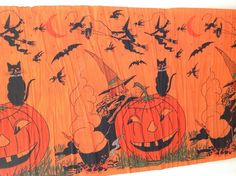 vintage halloween witch 68 inch crepe paper decoration ebay