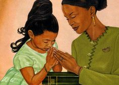Black Love Art - Putting God First. Carrie's view: Being a mother of two beautiful girls I teach them to put God first in everything that they do. Black Love Art, Black Girl Art, My Black Is Beautiful, Black Girls Rock, Art Girl, African American Artwork, African Art, American Artists, Black Artwork
