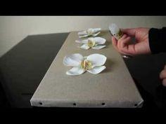 Réaliser un tableau floral - Atelier Fleur de Mai - YouTube