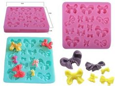 Silicone Mould with 16 Assorted Miniature Bows for sale on Trade Me, New Zealand's auction and classifieds website Bows For Sale, Silicone Molds, Miniatures, Crafts, House, Manualidades, Haus, Handmade Crafts, Mockup