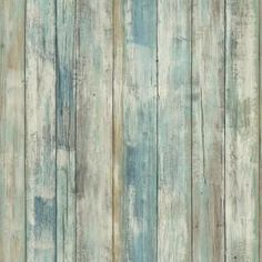 Brewster 56 4 Sq Ft Levi Turquoise Scrap Wood Wallpaper