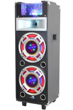 Small to large high power party speaker systems with lights, Bluetooth & built-In amplifier. Buy a speaker for your party here. Wireless Headphones For Tv, Running Headphones, Party Speakers, Stereo Speakers, Dj Party, Record Players, Speaker System, Card Reader, Usb