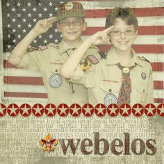 WEBELOS  just type this in and see all the wonderful things it displays
