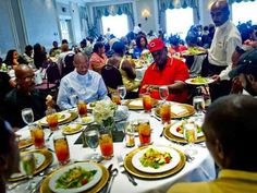 dinner reception donated to homeless-JonathanPhillips this is what community is all about