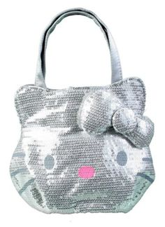 e50ce4bc4f Sanrio Hello Kitty Silver sequin handbag purse tote    To view further for  this item