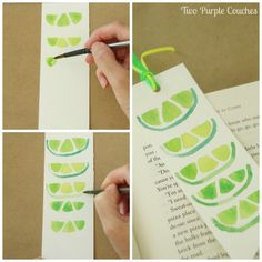 Easy tutorial shows you how to paint watercolor lime slices (and other fruits). Such a cute art & crafts idea for summer.