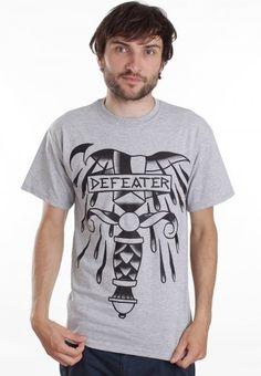 Defeater - Tattoo Knife Sportsgrey - T-Shirt - Official Post Hardcore Merchandise Shop - Impericon.com UK