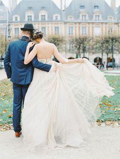 Romantic Paris wedding elopement inspiration   Wedding Sparrow