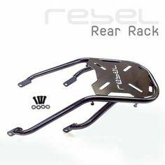REAR LUGGAGE RACK FRAME GLOSS BLACK TAIL FOR HONDA REBEL CMX 300 CMX 500 17-20 | eBay Honda Rebel 300, Bar Rack, Luggage Rack, Vroom Vroom, Saddle Bags, Frame, Ebay, Black, Picture Frame