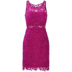 Rental ML Monique Lhuillier Mulberry Lace Sheath Dress ($70) ❤ liked on Polyvore featuring dresses, purple, sheath cocktail dress, sleeveless sheath dress, lace sheath cocktail dress, purple lace dress and lacy dress