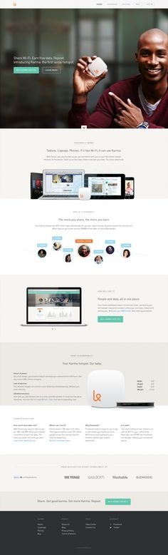Karma website by Michiel de Graaf