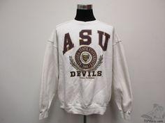 Vtg 90s Galt Sand Arizona State Sun Devils Crewneck Sweatshirt sz XL Extra Large #GaltSand #ArizonaStateSunDevils #tcpkickz